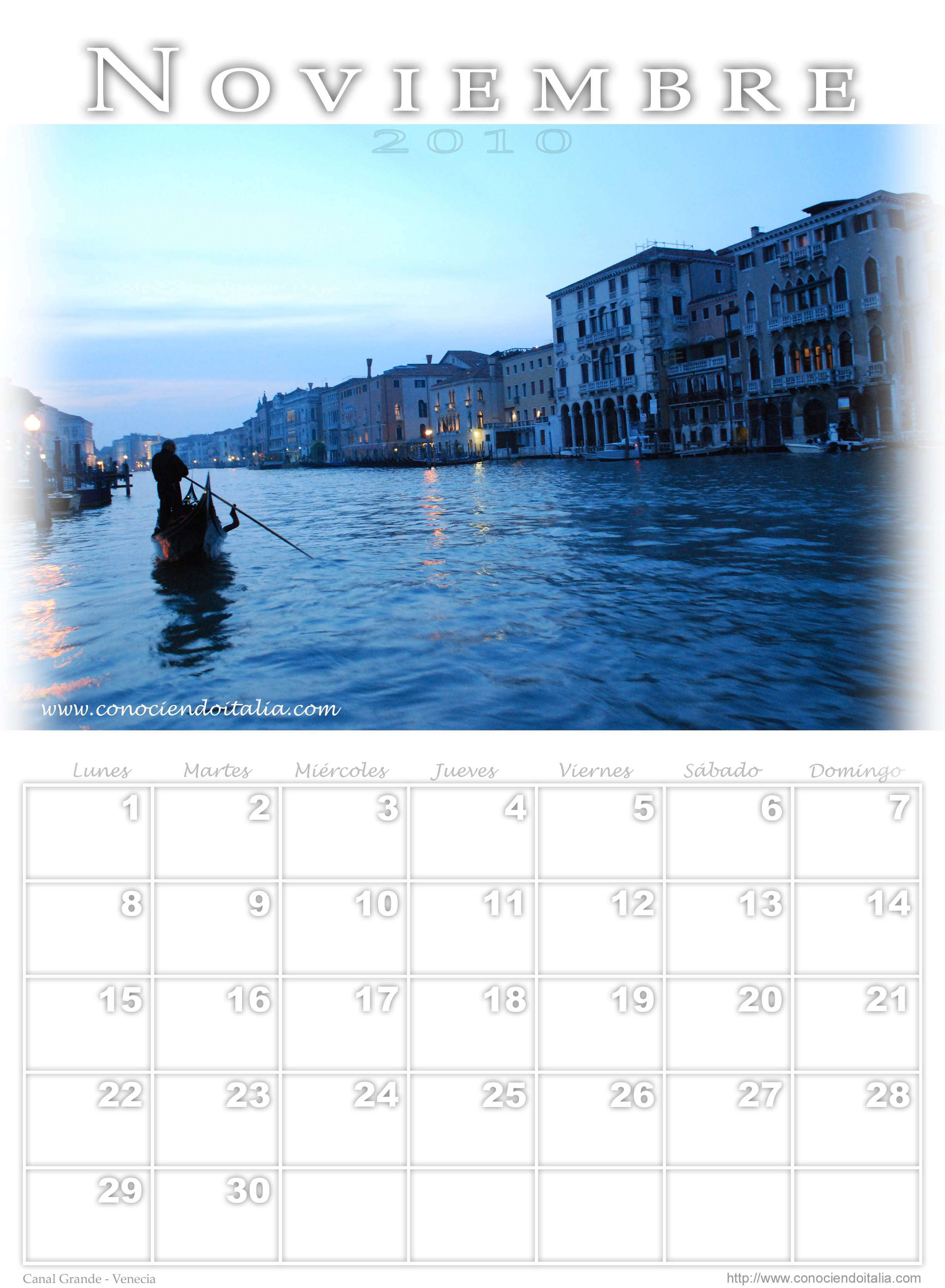 Calendario 2010 Fotos de Italia – Made in ConociendoItalia