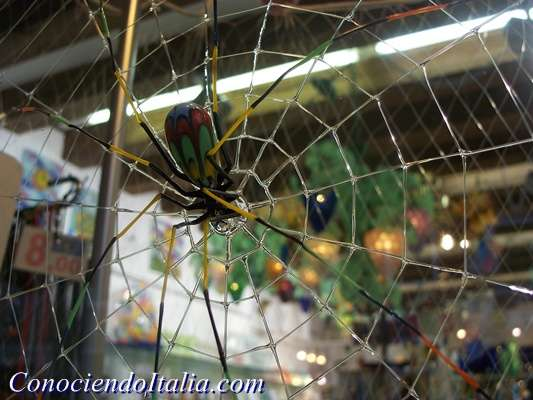 Araña realizada en Vidrio en Murano