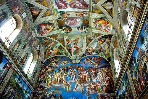 Genios de la Pintura, Escultura... Capilla-sixtina
