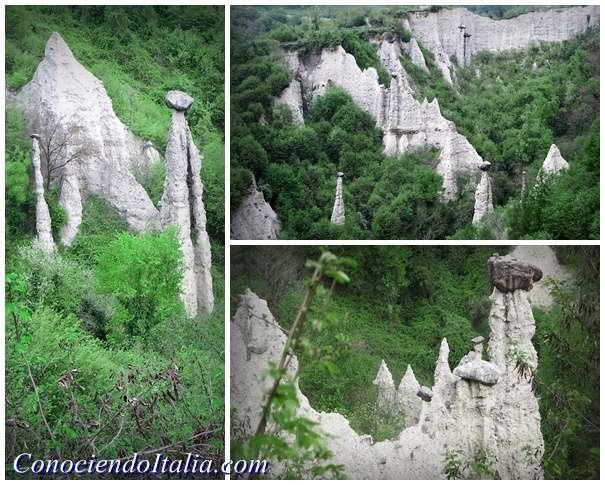 "Visitar la ""Reserva Natural Piramides de Zone"", el Gran Canyon Italiano"
