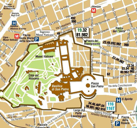 Como llegar a los Museos Vaticanos