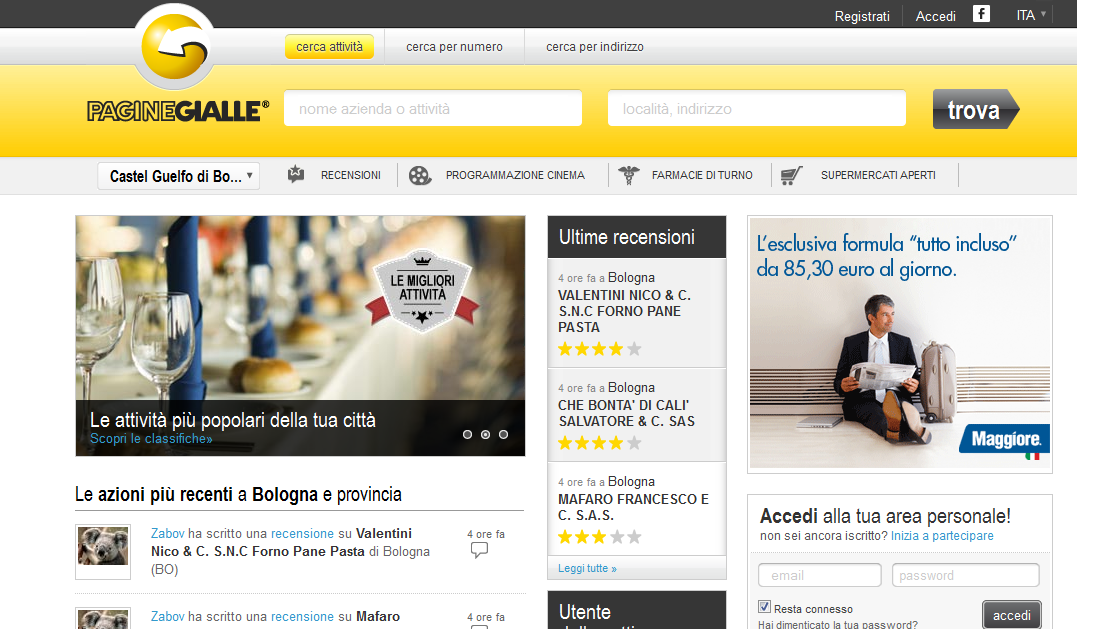 Buscar números de telefónos en Italia – Páginas blancas y Páginas amarillas