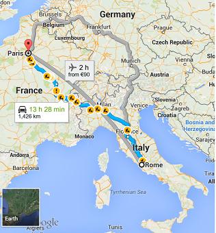 C mo ir de roma a par s o viceversa tipos de transporte for Tour de barcelona a paris