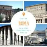 Roma en cuatro días – Qué ver, itinerarios y mapas