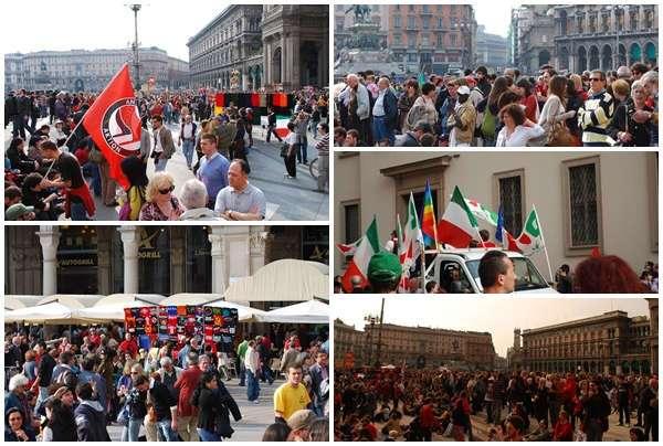 Piazza Duomo Milán 25 abril 2009