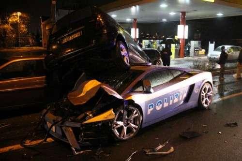 Cremona incidente con coinvolta la Lamborghini Gallardo della Po