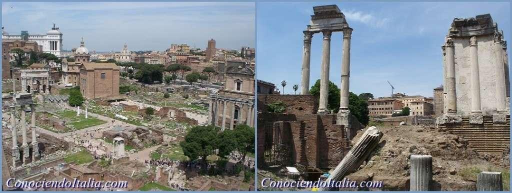 Vistas ruinas Foros Romanos