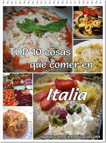 10 cosas que comer en Italia