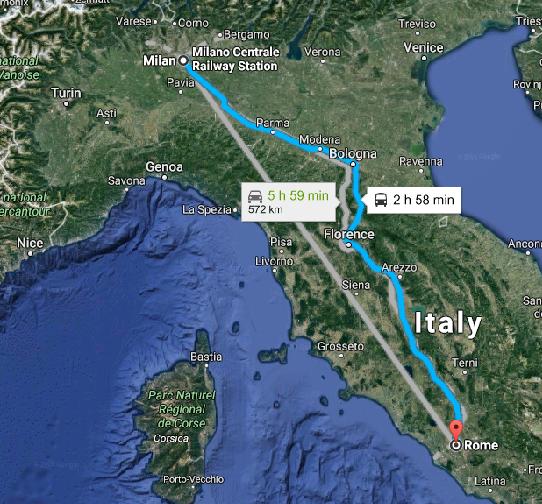 Cómo ir de Roma a Milán y viceversa – Tipos de Transporte y precios