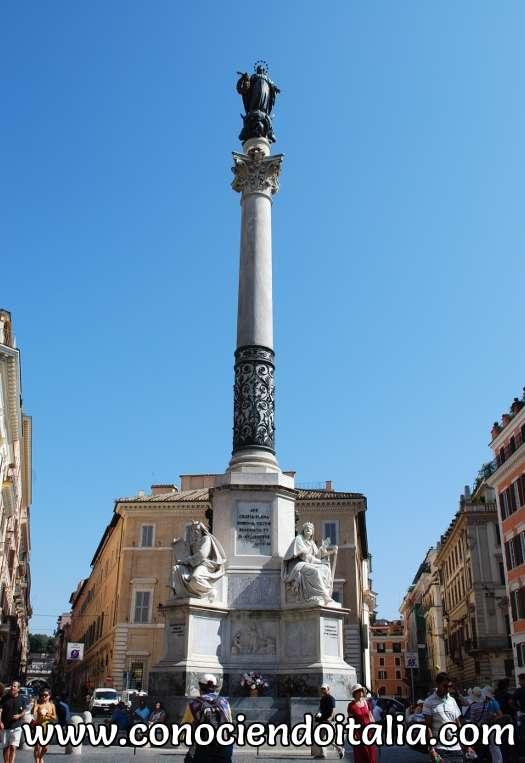 Estatua dogma de la Inmaculada Concepción - Roma