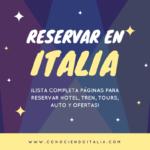 Páginas para reservar en Italia – Hoteles, auto, tren y más