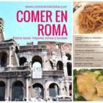 Comida típica de Roma – Que comer y donde, mejores zonas y locales
