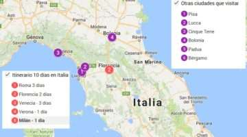 Recorrer Italia en 10 días – Itinerario, ruta ciudades centro y norte