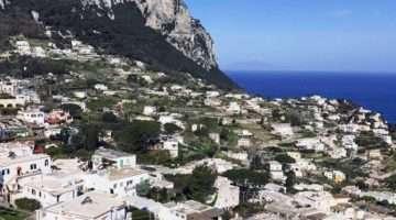 Vista Panorámica de la isla de Capri
