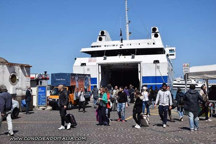 isla de Capri - barco ferry