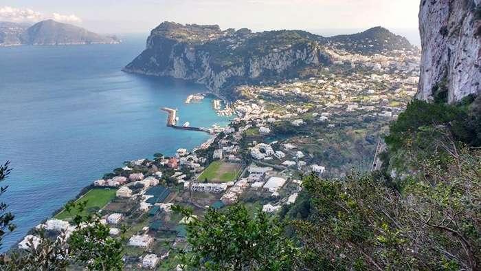 Vista panorámica Marina Grande de Capri