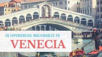 20 cosas Que hacer en Venecia