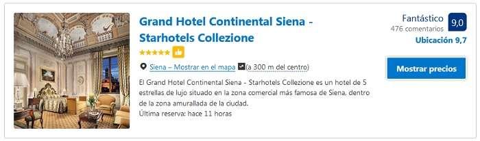 hoteles 5 estrellas en Siena