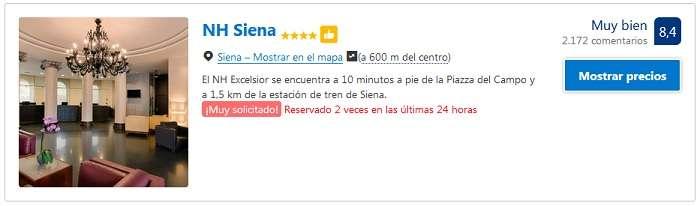 hoteles 4 estrellas en Siena