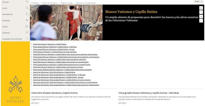 Paginas donde comprar entrada museos vaticanos
