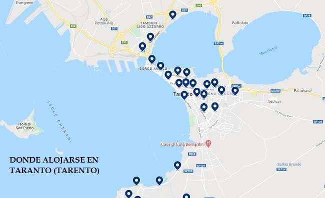 mapa hoteles en Taranto