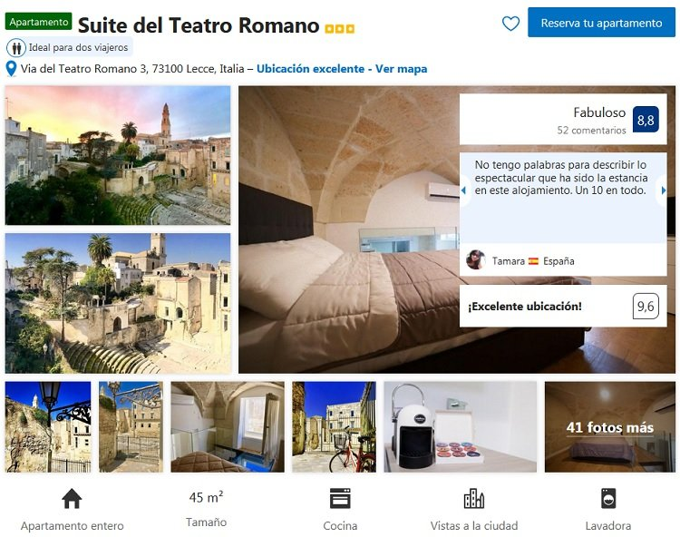 apartamento donde alojarse en Lecce