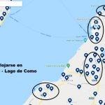 mapa hoteles donde alojarse en bellagio